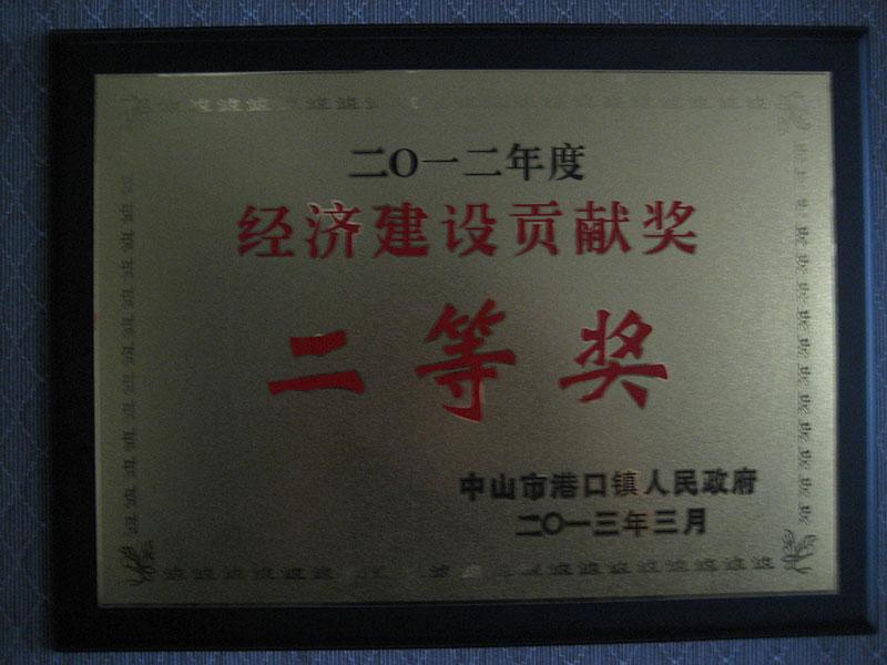 2012年度经济建设贡献二等奖